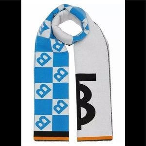 Burberry Geo and TB Football Scarf Graphic Scarf